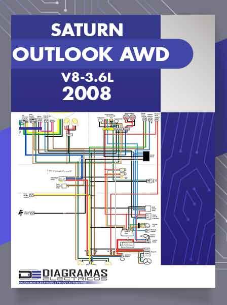 Diagrama Eléctrico SATURN OUTLOOK AWD V6-3.6L 2008