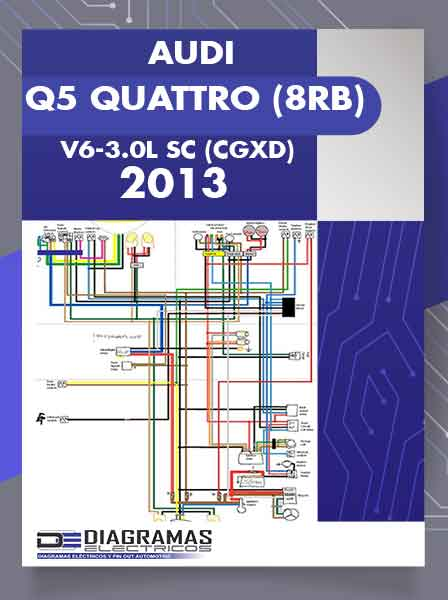 Diagramas Eléctricos AUDI Q5 QUATTRO (8RB) V6-3.0L SC (CGXD) 2013