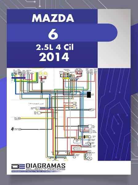 Diagramas Eléctricos MAZDA 6 2.5L 4 Cil 2014