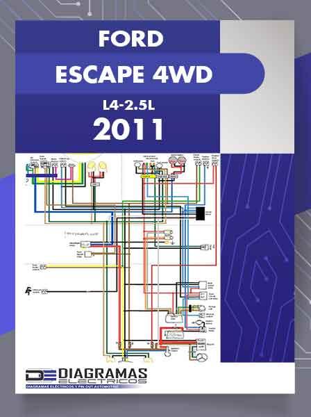Diagramas Eléctricos FORD ESCAPE 4WD L4-2.5L 2011