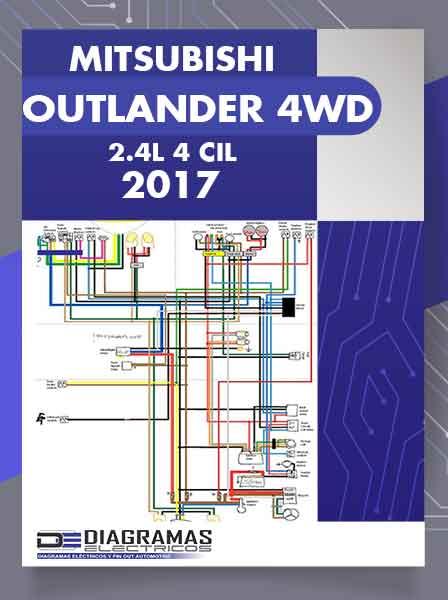 Diagramas Eléctricos MITSUBISHI OUTLANDER 4WD 2.4L 4 Cil 2017