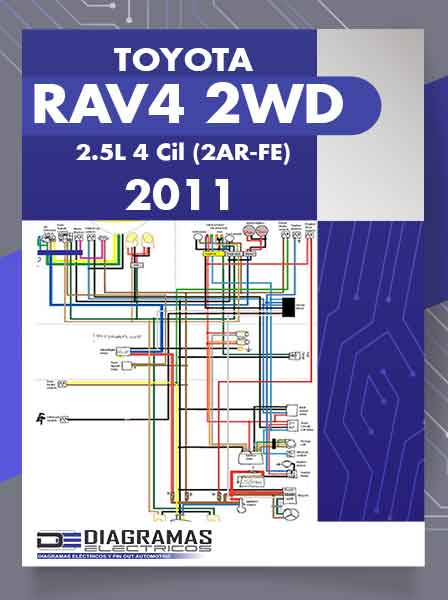 Diagramas Eléctricos TOYOTA RAV4 2WD 2.5L 4Cil (2AR-FE) 2011