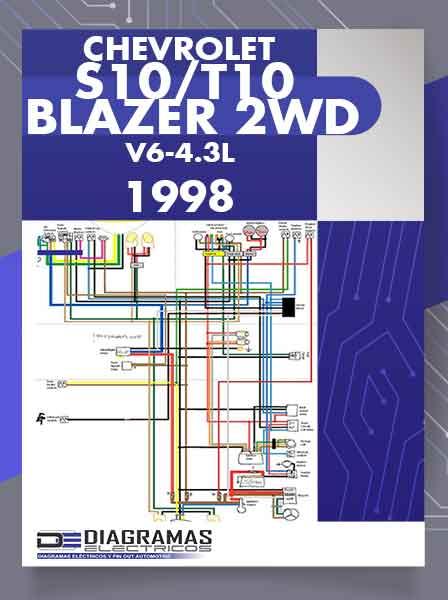 Diagramas Eléctricos CHEVROLET S10_T10 BLAZER 2WD V6-4.3L VIN W 1998