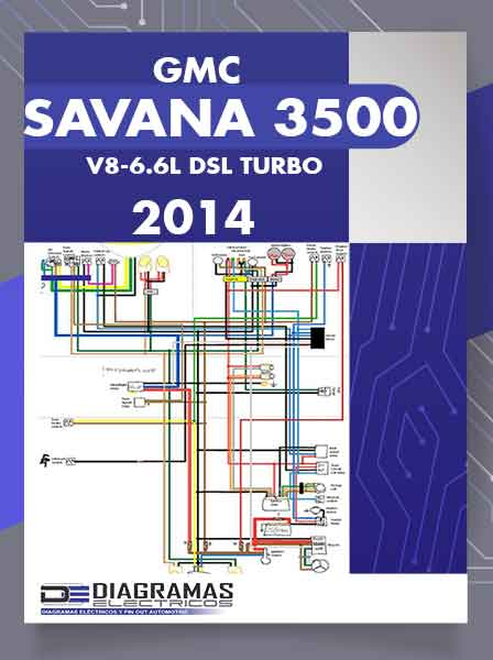 Diagramas Eléctricos GMC SAVANA 3500 V8-6.6L DSL TURBO 2014