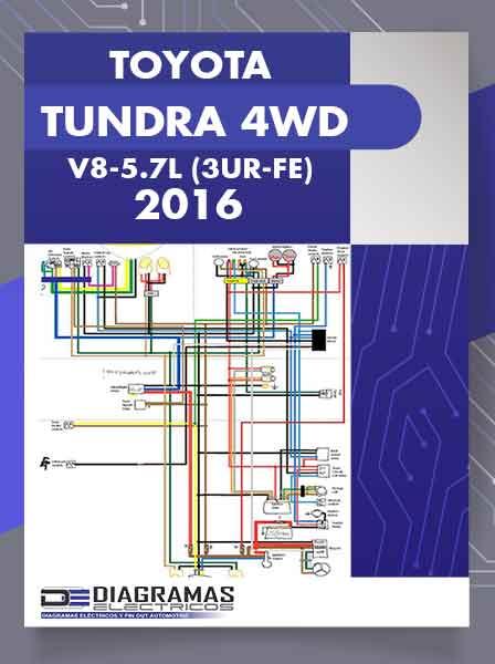 Diagramas Eléctricos TOYOTA TUNDRA 4WD V8-5.7L (3UR-FE) 2016